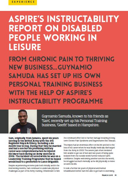 gym owner monthly front page for March featuring Guynamio Samuda