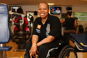 Disabled gym instructor
